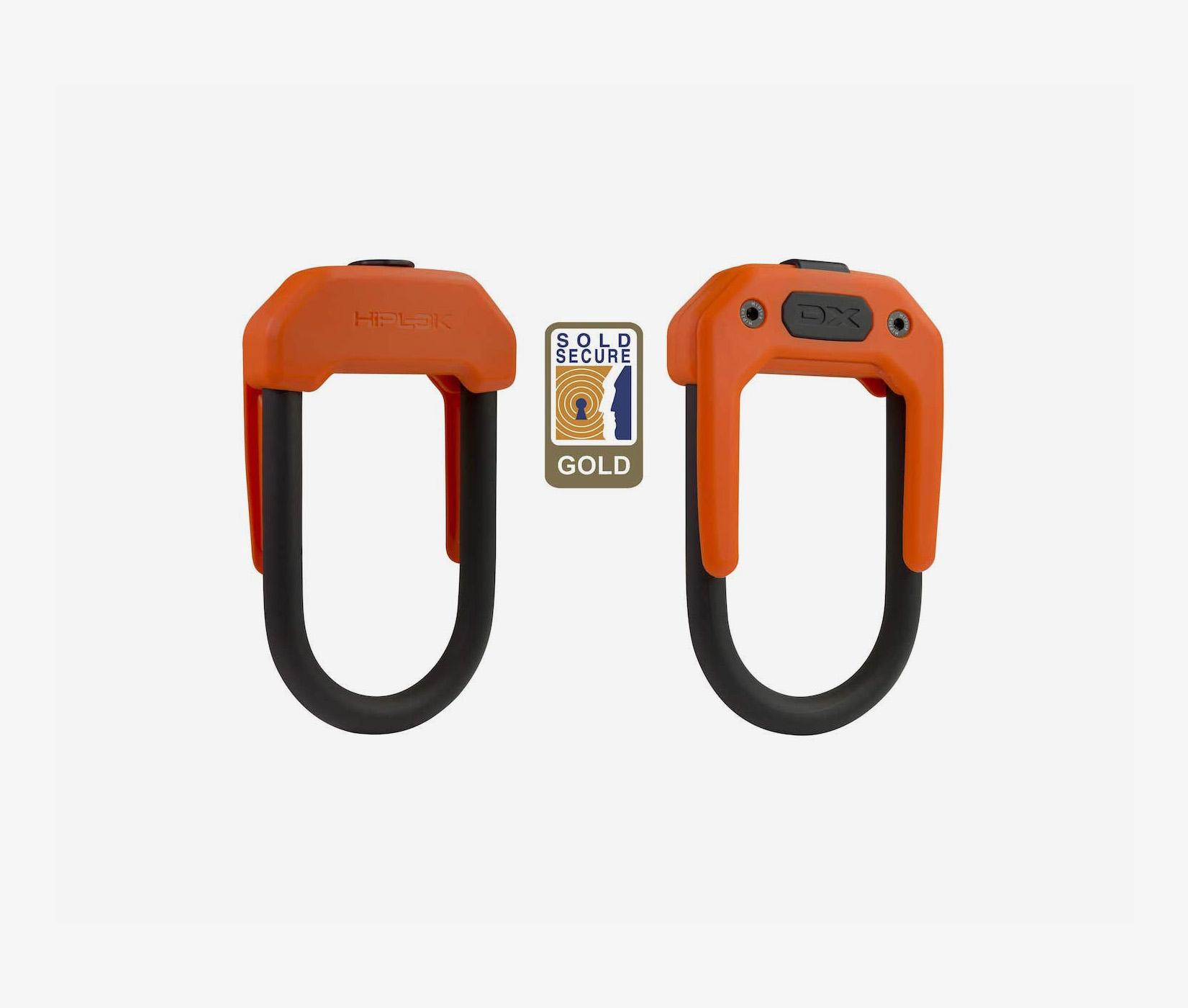 Hiplok DX bike lock orange sold secure gold