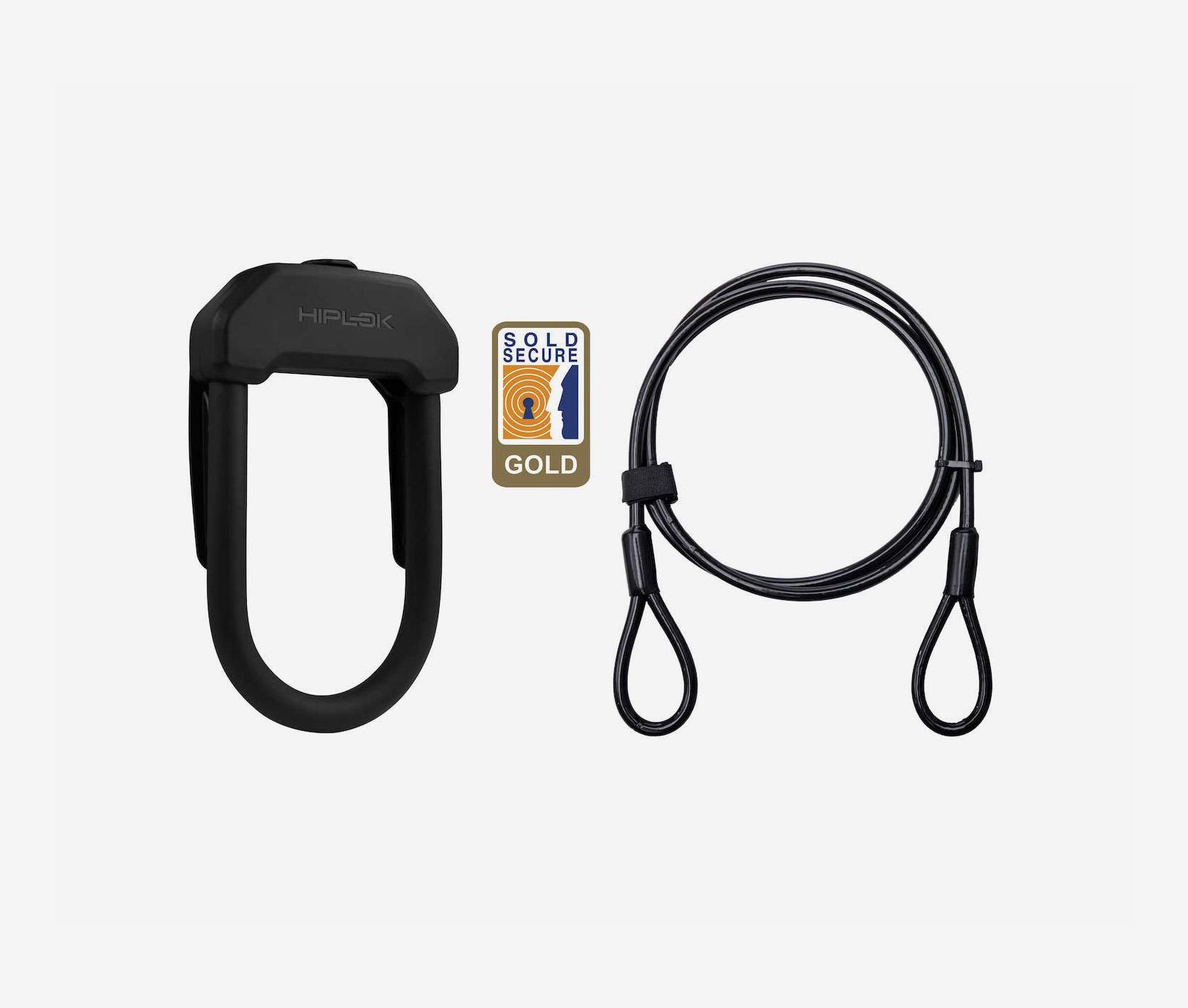 Hiplok DX+plus wearable u lock with cable booda bike