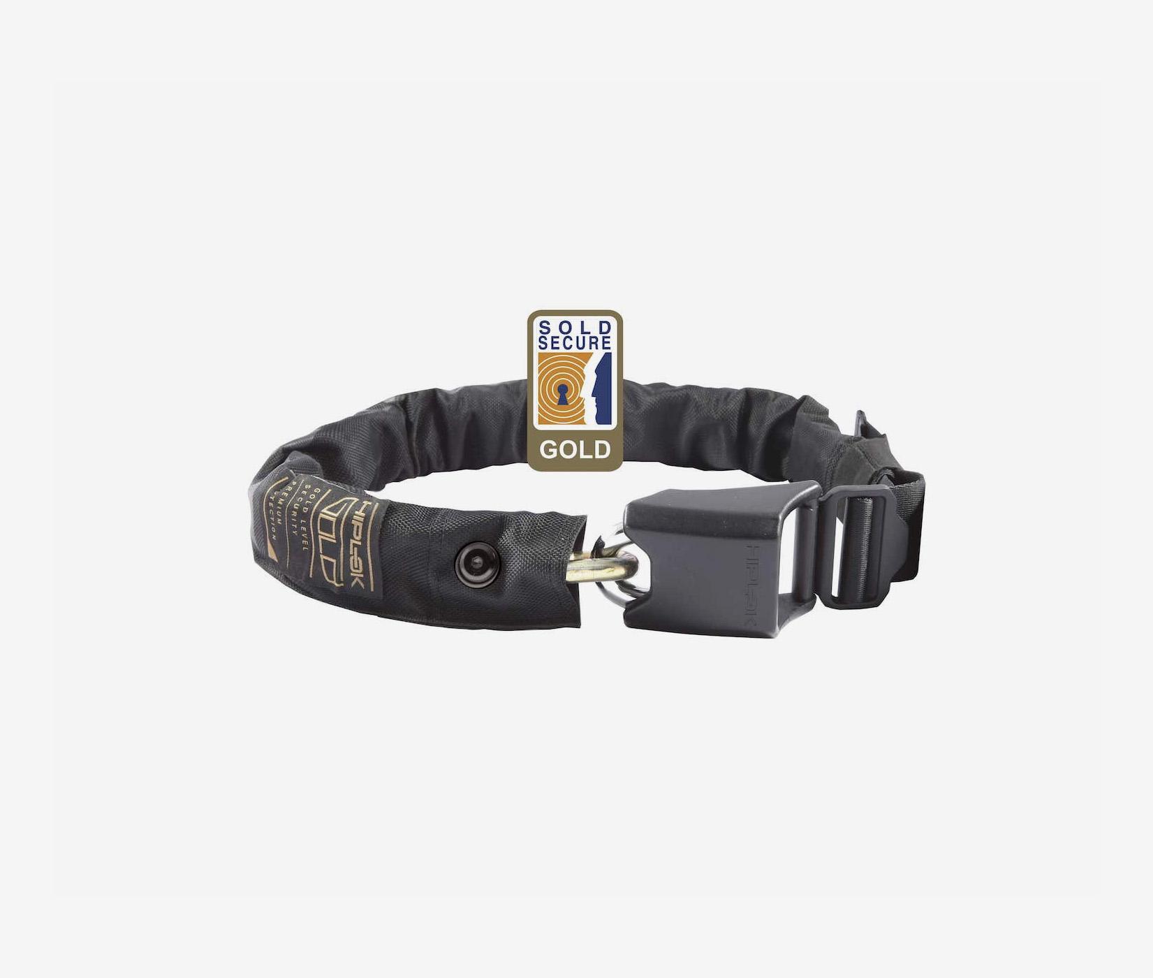Hiplok Gold wearable chain lock security black