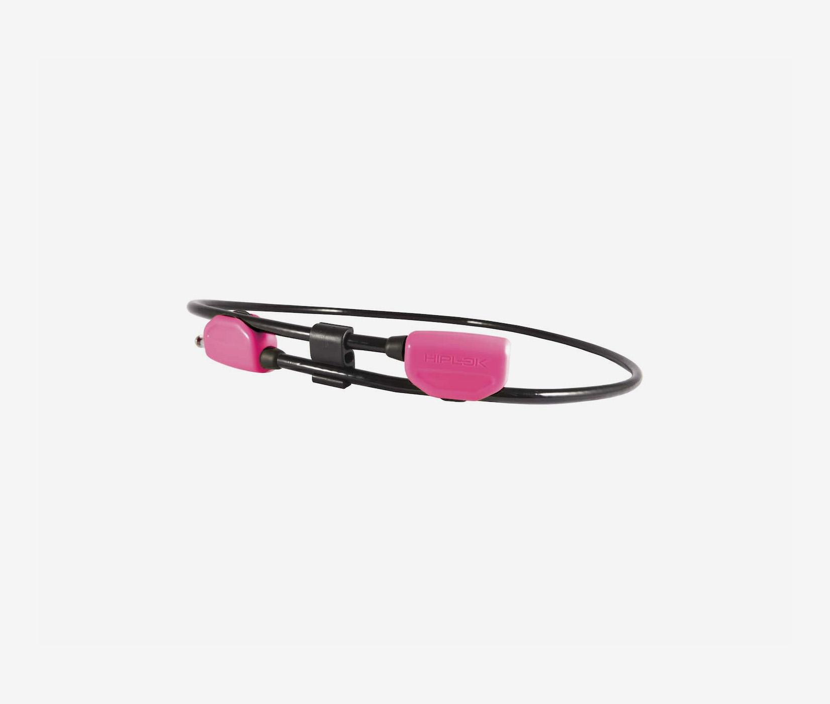 Hiplok Pop cable lock pink