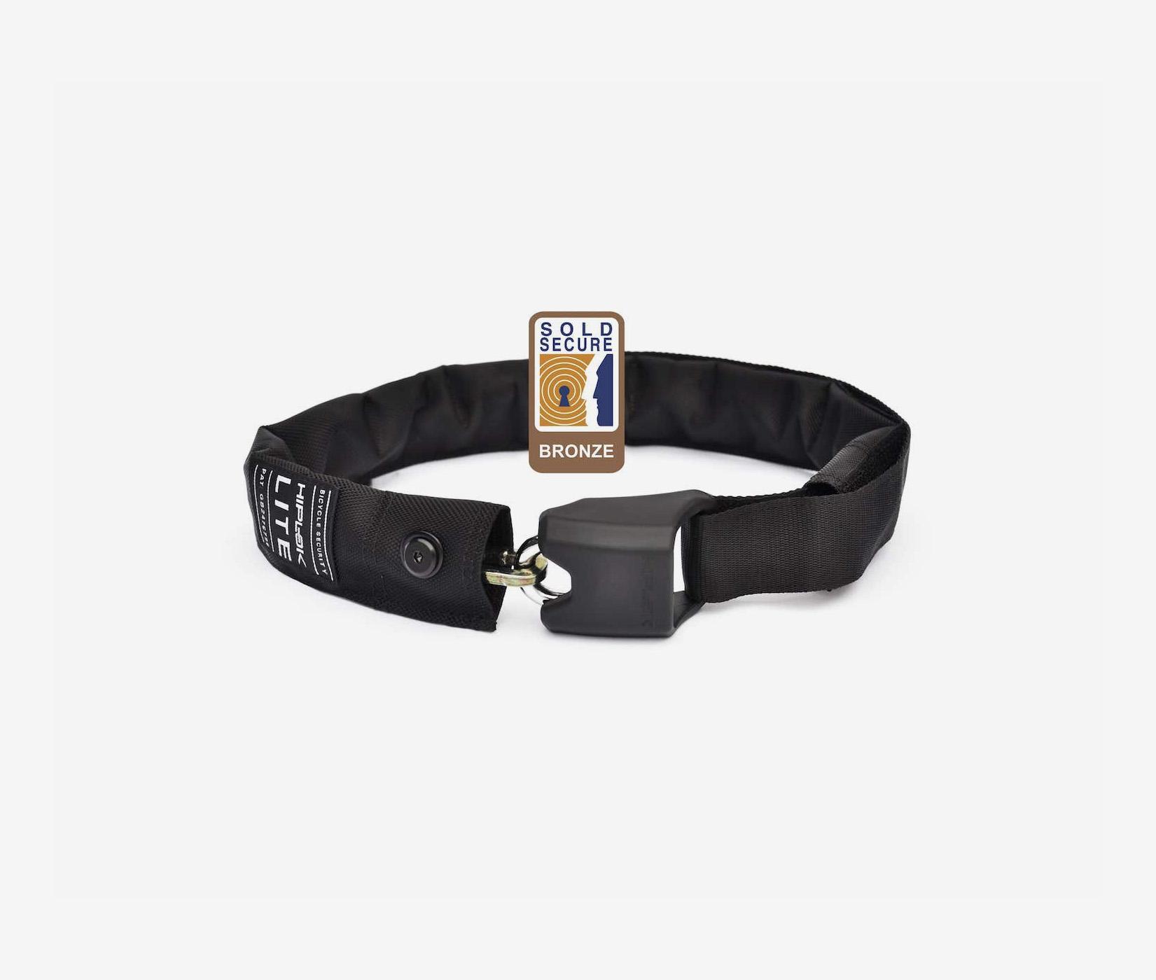 Hiplok lite black wearable chain lock sold secure bronze