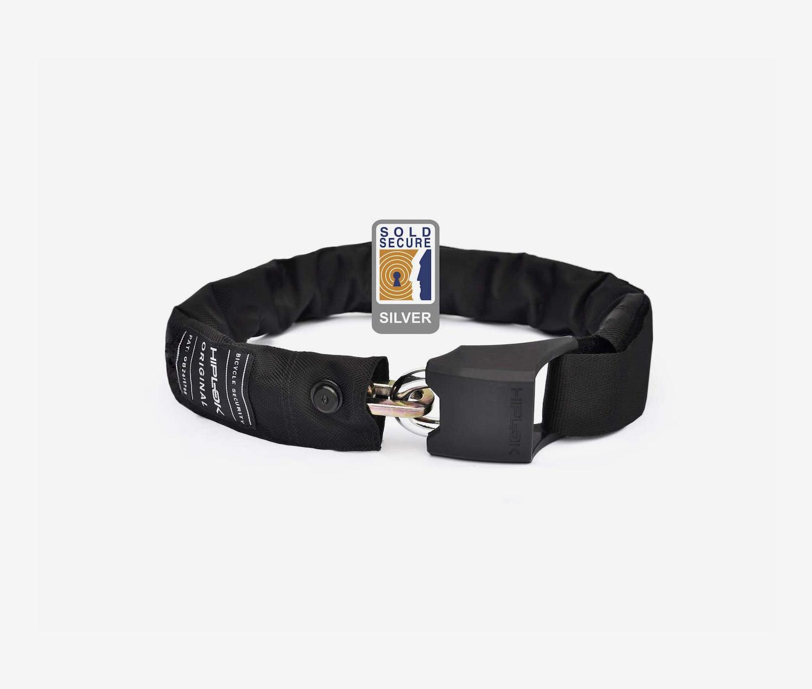 Hiplok original wearable chain lock bike lock sold secure black