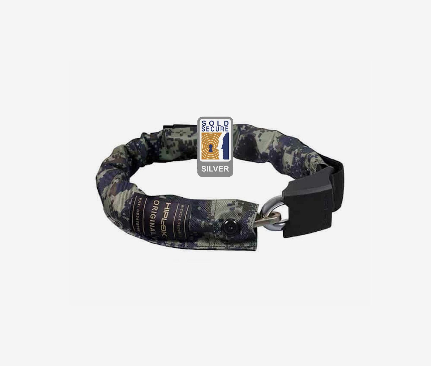 Hiplok original wearable chain lock bike lock sold secure camouflage