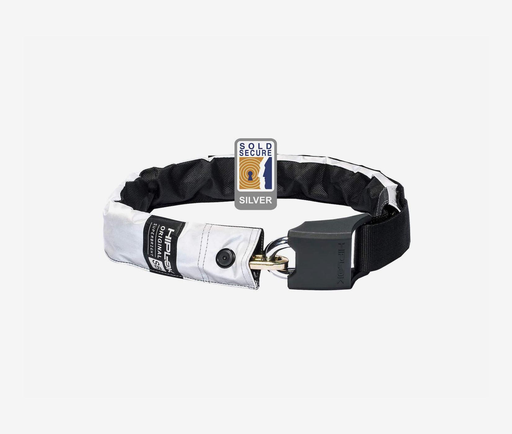 Hiplok original wearable chain lock bike lock sold secure superbright