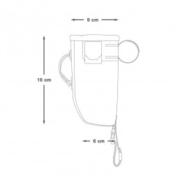 Apidura Backcountry Food Pouch 0,8 liter dimension diagram