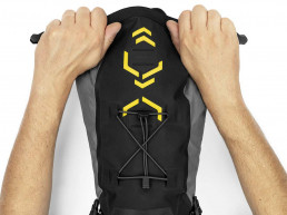 Apiudra Backcountry Saddle Pack premium bikepacking roll up closure